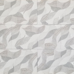 12x24 3D Leaf Grey Decor - Polished ceramic