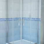 "Delta 38"" corner shower enclosure"