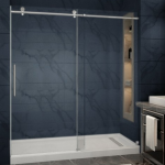 "72"" Florence -frameless glass shower door"