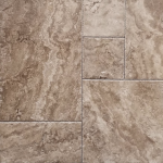 Noce - Travertine brushed & chiseled