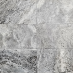 Silver Travertine Dark - F/H (various sizes)
