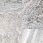 Silver Travertine - F/H (various sizes)