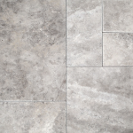 Silver - Travertine brushed & chiseled