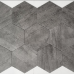 12x10 Hexagon - Dark Grey Matte