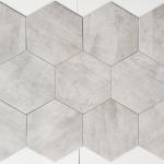 12x10 Hexagon - Light Grey Matte