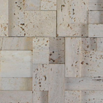3D Beige Travertine - wall cladding