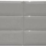4x12 Beveled Dark Grey - Glass