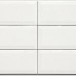 4x12 Beveled White - Glass