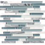 Bliss - Waterfall Glass & Stone (random strip or 5/8 square)