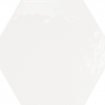 Hexatile Brillo - White (glossy) #HE20519N 7x8