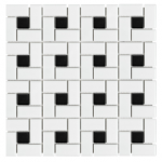 Soho - Pinwheel White with Black Dot