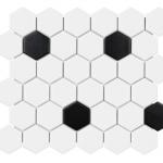 Soho - White & Black Hex (2x2)