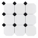 Soho - White Matte with Black Dot (4x4)