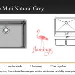 Flamingo Mini Natural Grey
