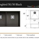 Hummingbird 50:50 Black