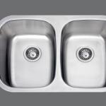 SMC - 7447 Stainless double undermount sink