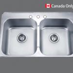 SMC - 7991 Stainless double topmount sink