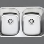 SMC - 8247 Stainless double undermount sink