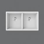 SMC - 902W - White Granite double undermount sink