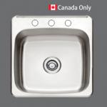 SMC - 9391 Stainless single topmount sink