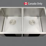 SMC - D3118 Stainless double undermount sink