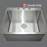 SMC T2220 Stainless single Topmount sink